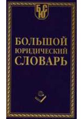 Большой юридический словарь: словарь