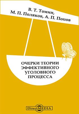 Очерки теории эффективного уголовного процесса: монография