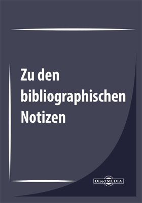 Zu den bibliographischen Notizen