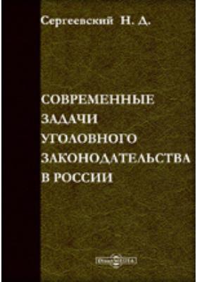 Современные задачи уголовного законодательства в России: практическое пособие