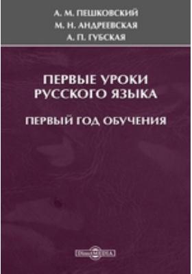 Первые уроки русского языка. Первый год обучения